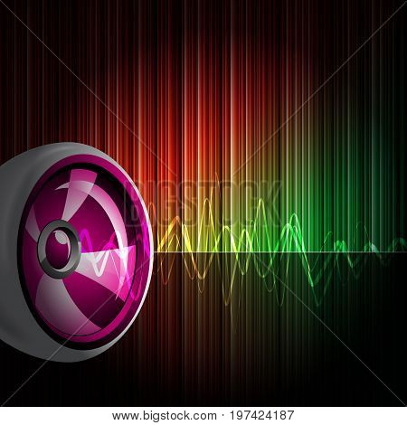 Abstract vector shiny background with speaker on shiny backround
