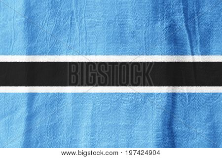 Botswana Fabric Flag  National Flag From Fabric For Graphic Design.