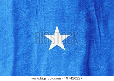 Somalia Fabric Flag  National Flag From Fabric For Graphic Design.