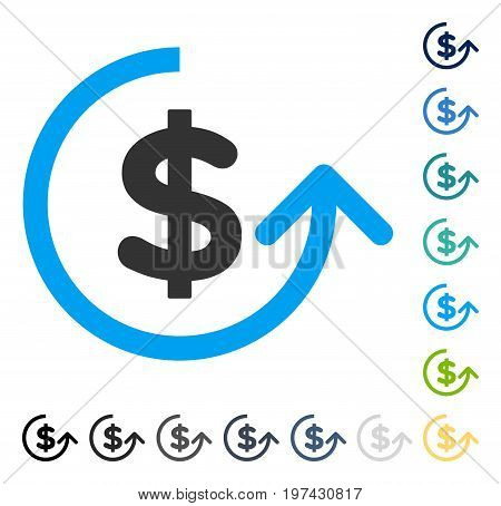 Chargeback icon. Vector illustration style is flat iconic symbol in some color versions.
