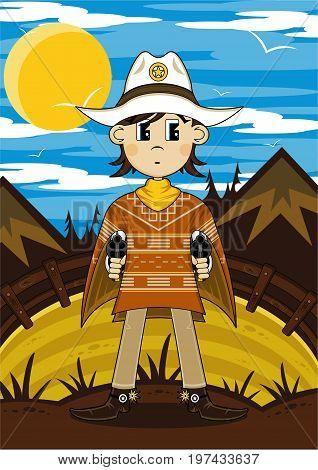 Poncho Cowboy Scene