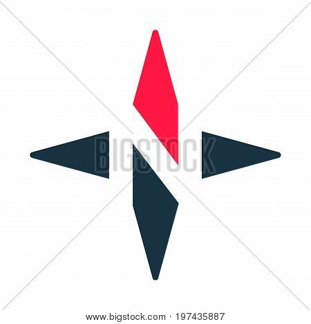 Compass arrow vector icon. N logotype. North West East South Star. Vector illustration. White background. Eps10.