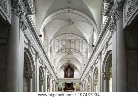 Beautiful Interior View Of Abbey Church In Floreffe