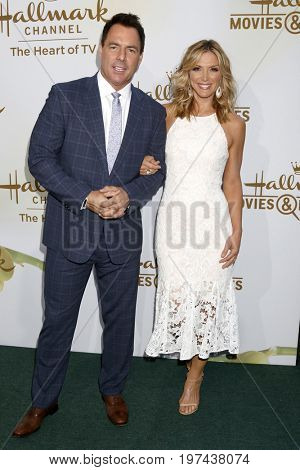 LOS ANGELES - JUL 27:  Mark Steines, Debbie Matenopoulos at the Hallmark TCA Summer 2017 Party at the Private Residence on July 27, 2017 in Beverly Hills, CA