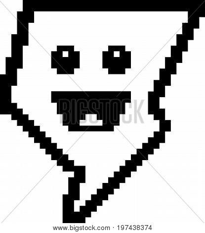 Smiling 8-bit Cartoon Lightning