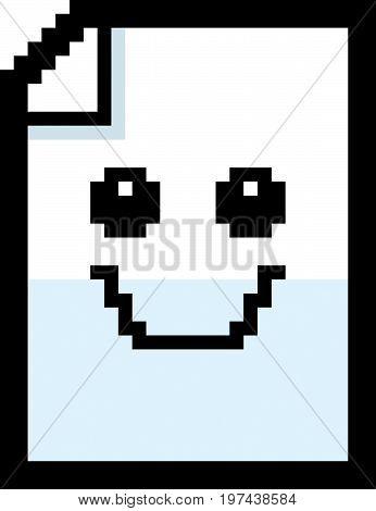Smiling 8-bit Cartoon Paper