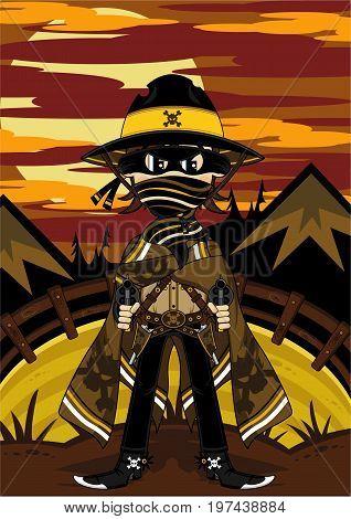 Masked Skull Cowboy
