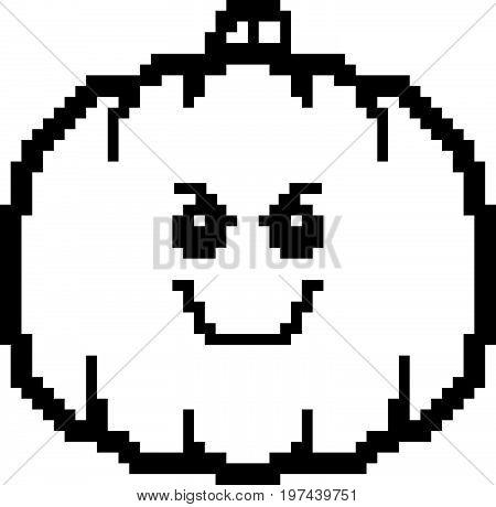 Evil 8-bit Cartoon Pumpkin