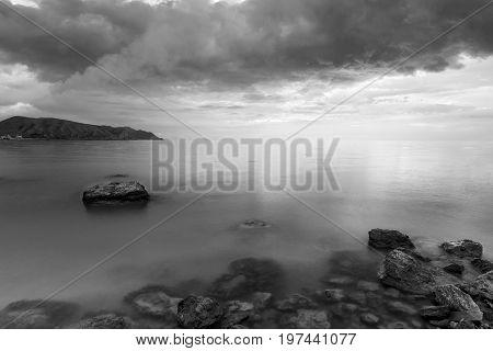 Cape Alchak in the Crimea / evening landscape a journey through the Crimea