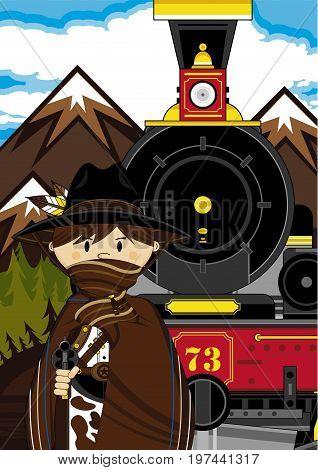 Masked Cowboy Train Scene.eps