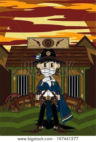 Masked Cowboy At Jailhouse
