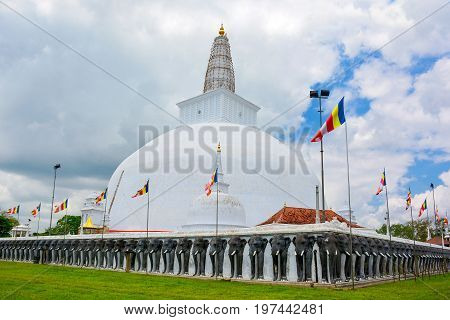 Beautiful View Of The Ruwanwelisaya - One Of The Tallest Buddhist Stupa In The World Located In Thea
