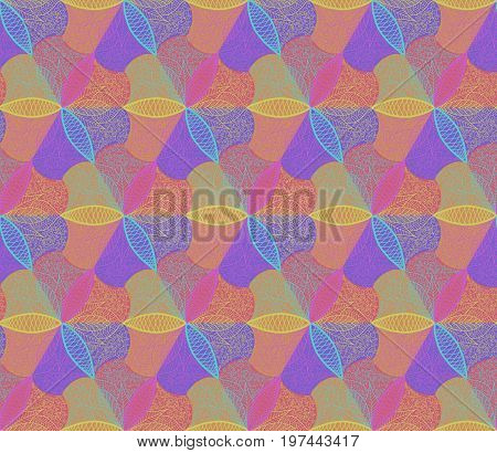 Abstrac Colorful Flower Seamless Patterns