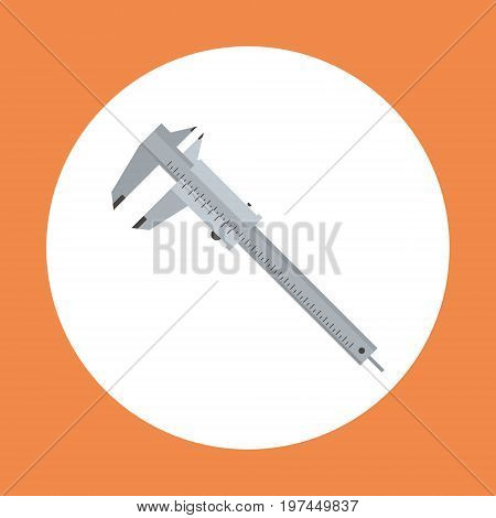 Caliper Icon Working Hand Tool Equipment Concept Vector Illustration