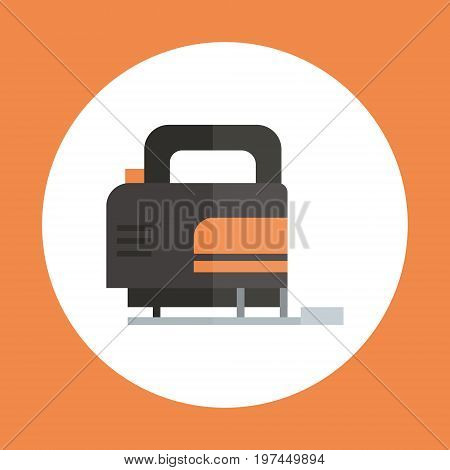 Fret Saw Icon Working Hand Tool Equipment Concept Vector Illustration