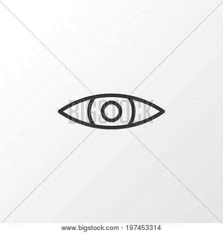 Premium Quality Isolated Glance Element In Trendy Style.  Eyes Icon Symbol.