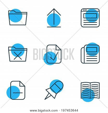 Editable Pack Of Delete, Done, Install And Other Elements.  Vector Illustration Of 9 Bureau Icons.