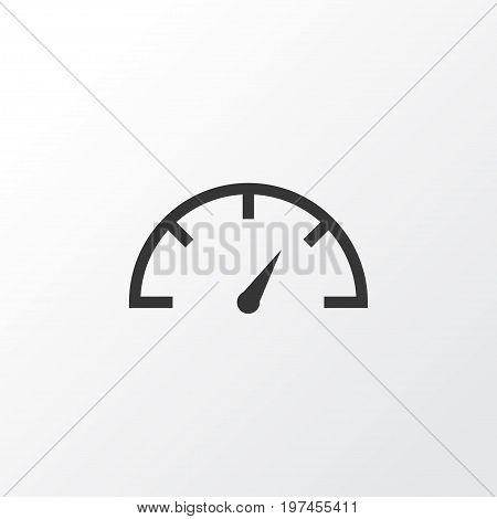 Premium Quality Isolated Speed Checker Element In Trendy Style.  Speedometer Icon Symbol.