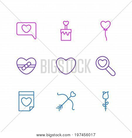 Editable Pack Of Messenger, Decoration, Magnifier And Other Elements.  Vector Illustration Of 9 Passion Icons.