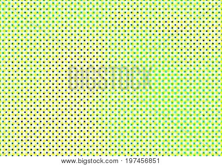 Abstract Colored Background In Newsprint Style With Squares