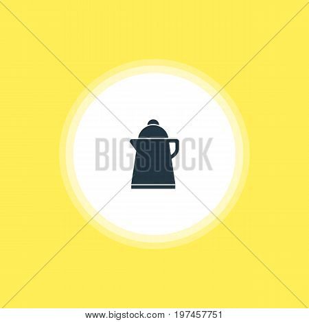 Beautiful Cooking Element Also Can Be Used As Tea Element.  Vector Illustration Of Kettle Icon.