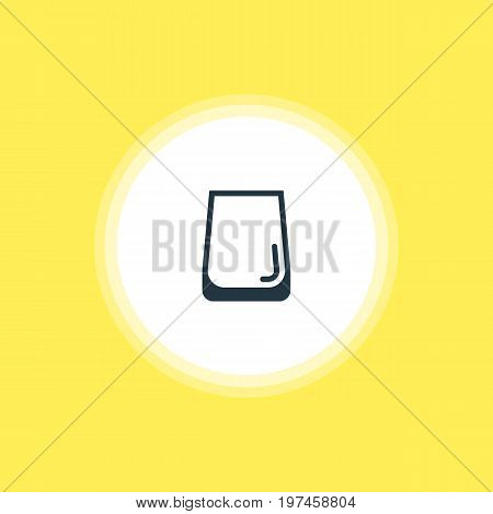 Beautiful Kitchenware Element Also Can Be Used As Glass Cup Element.  Vector Illustration Of Water Glass Icon.