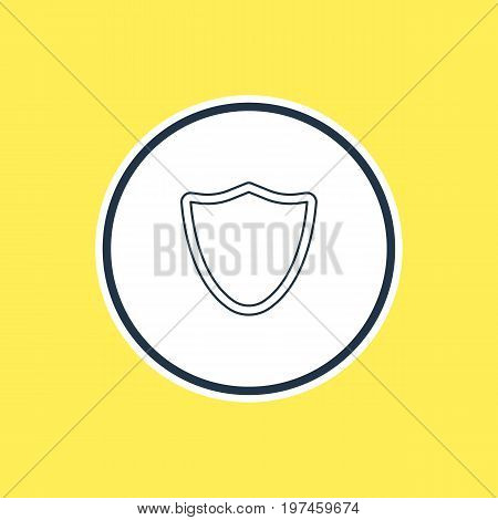 Beautiful Network Element Also Can Be Used As Safeguard Element.  Vector Illustration Of Shield Outline.
