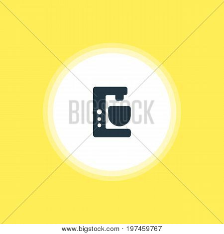 Beautiful Kitchenware Element Also Can Be Used As Mixer  Element.  Vector Illustration Of Coffee Machine Icon.