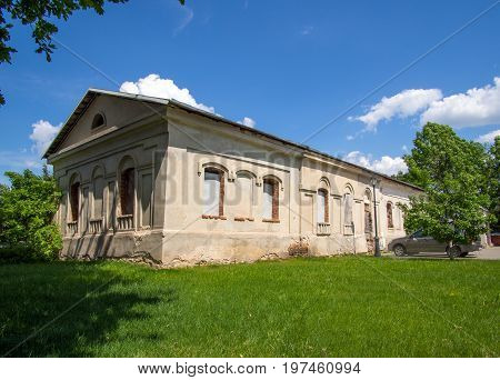 Novozhivotinnoe, Russia - May 26, 2017: Old kitchen outbuilding of the estate of D. Venevitinov