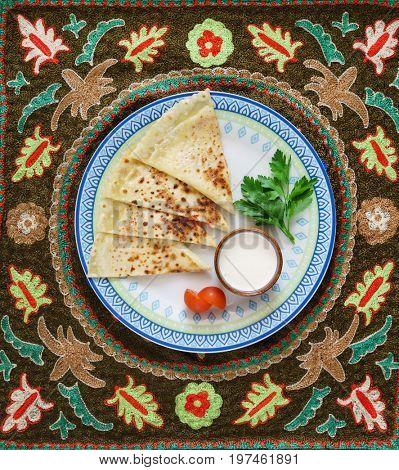 Fresh pastry - Uzbek homemade pita