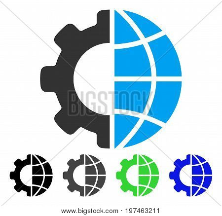 International Manufacture flat vector pictograph. Colored international manufacture gray, black, blue, green icon versions. Flat icon style for graphic design.