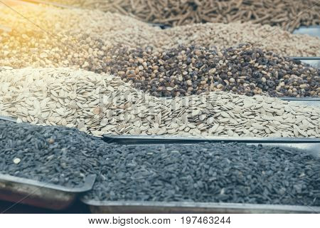 Roasted Seeds In Street Market 2