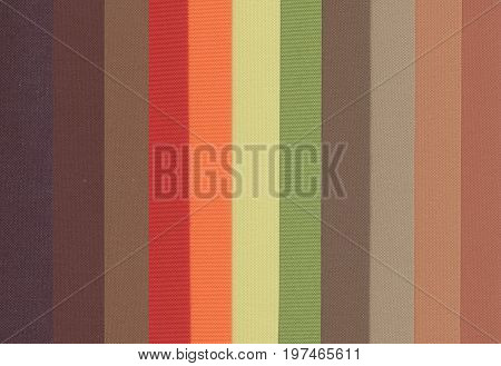 set of colored polyester fabric texture background