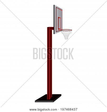 Isolated Basketball Net