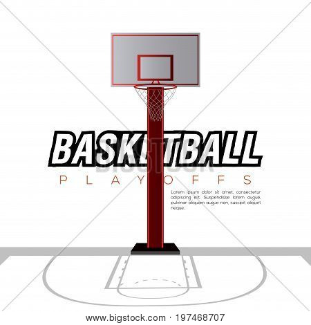 Basketball Field With A Net