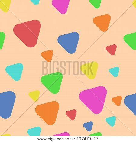 Colour Triangles with rounded corners. Abstract texture