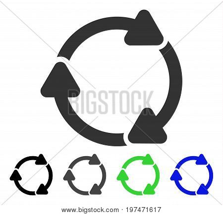 Rotate CW flat vector pictogram. Colored rotate cw gray, black, blue, green icon variants. Flat icon style for web design.