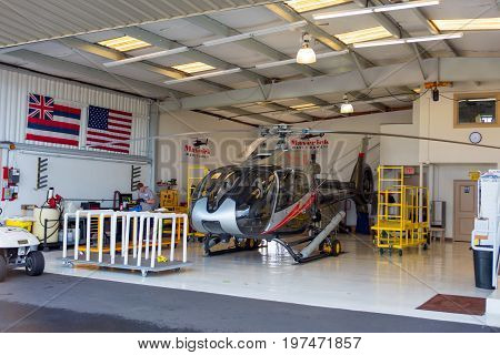 Maui, Hawaii - December 24, 2016: Maverick Helicopters Maui (company On Maui - Google It),