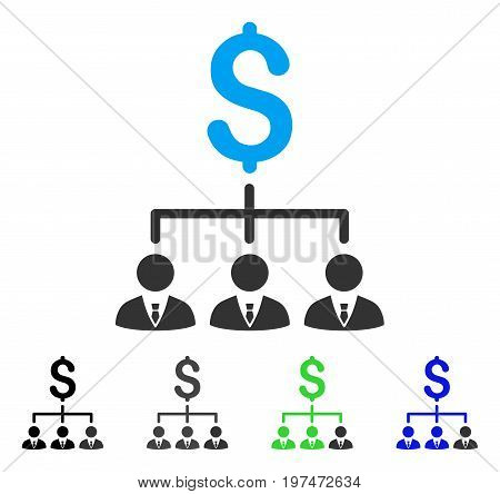 Banker Links flat vector pictogram. Colored banker links gray, black, blue, green icon versions. Flat icon style for graphic design.
