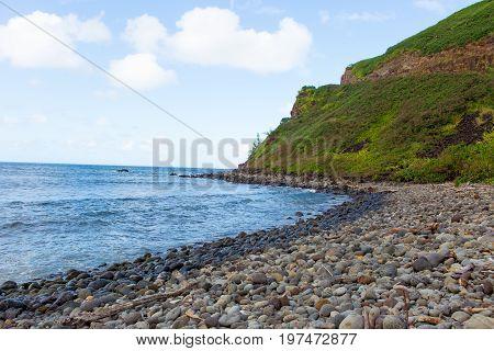 Hana Bay Pebble Beach, Maui, Hawaii.
