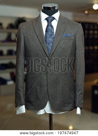 Stylish Business Suit On A Mannequin