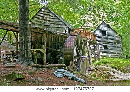 an old gristmill in a state of disrepair