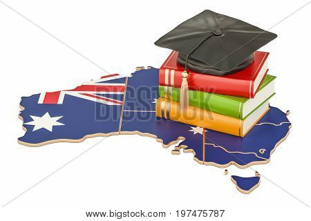 Education in Australia concept 3D rendering isolated on white background