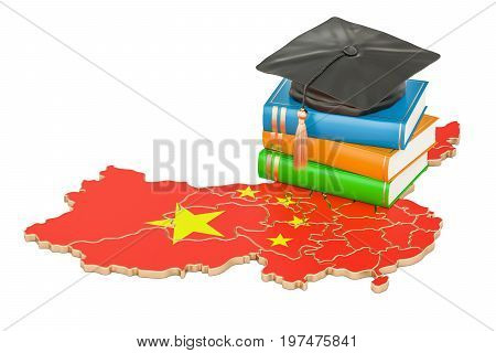 Education in China concept 3D rendering isolated on white background