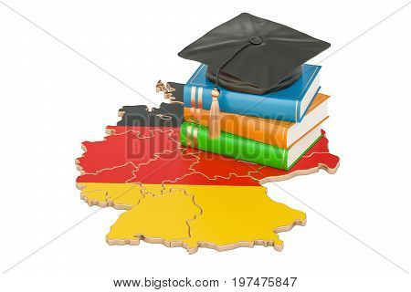 Education in Germany concept 3D rendering isolated on white background