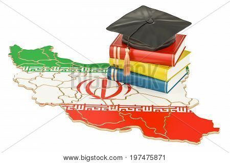 Education in Iran concept 3D rendering isolated on white background