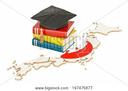 Education in Japan concept 3D rendering isolated on white background