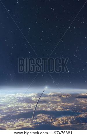 Space Exploration Earth And Night Sky Background .some Elements Of This Image Are Furnished By Nasa.