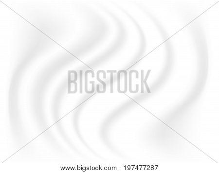 swirl cream foam background vector on white background