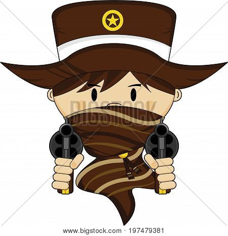 Cute Cowboy Sheriff In Mask